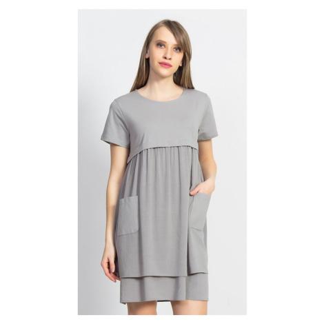 Dámské mateřské šaty Betty, S, šedá Vienetta Secret