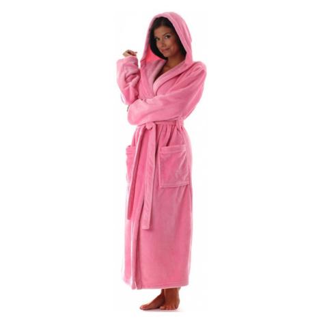 Vestis Siena dlouhý župan růžový - Růžová