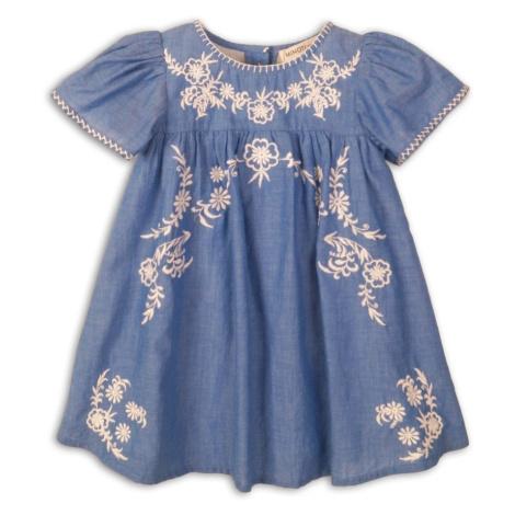 Modré dívčí vyšívané šaty Zaida Pidilidi