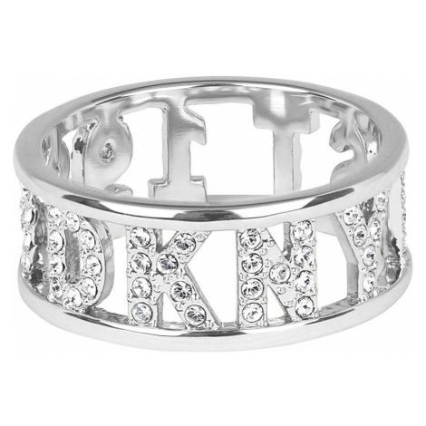 DKNY Třpytivý prsten s logem New York 5547969
