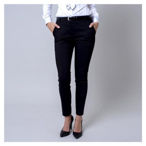 Dámské společenské kalhoty Long Size černé barvy 12140 Willsoor