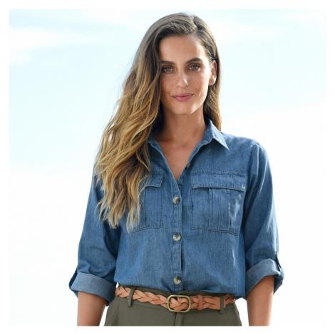 Blancheporte Džínová košile modrá