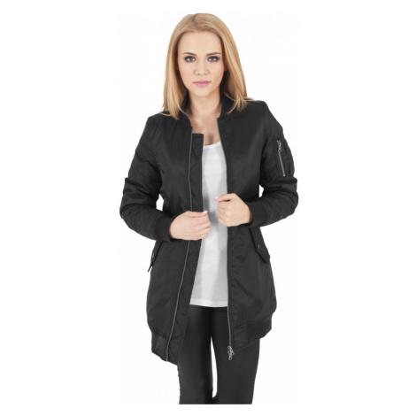 Bunda Urban Classics Ladies Long Bomber Jacket - black