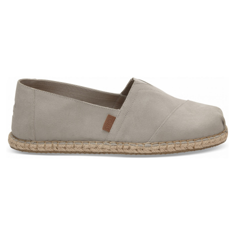 CLASSIC-Drizzle Grey Suede/Blanket Stitch MEN Toms