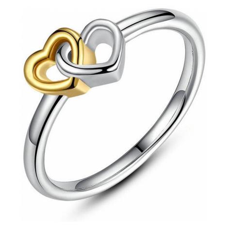 Linda's Jewelry Stříbrný prsten Love double IPR021 Velikost: 54