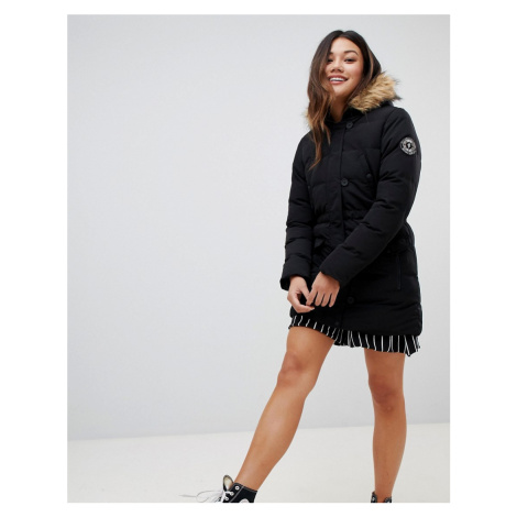Brave Soul whitehorse padded parka with faux fur trim