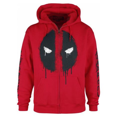 Deadpool Deadpool - Logo mikina s kapucí na zip červená