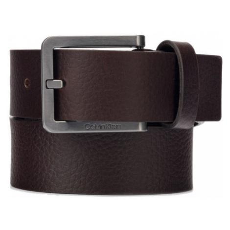 Calvin Klein CALVIN KLEIN pánský tmavě hnědý pásek ESSENTIAL PLUS 35MM