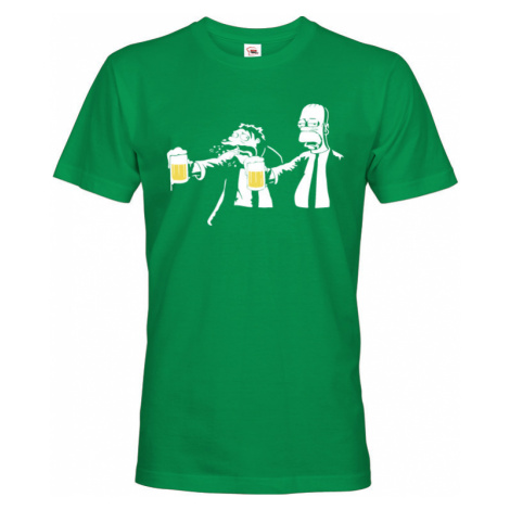 Vtipné tričko s potiskem Pulp Fiction Homer Simpson BezvaTriko