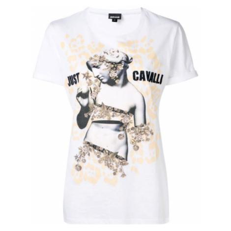JUST CAVALLI Logo Gold tričko