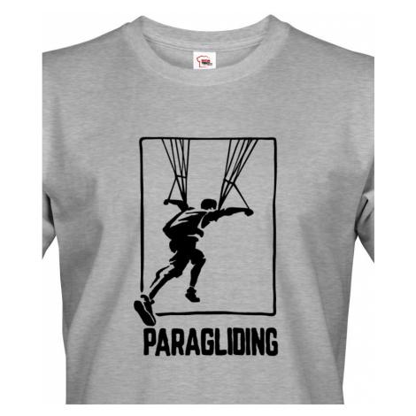 Pánské tričko pro fanoušky paraglidingu BezvaTriko
