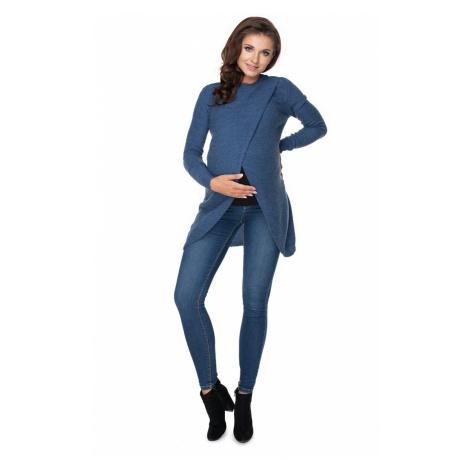 Tmavě modrý těhotenský pulovr 70027 PeeKaBoo