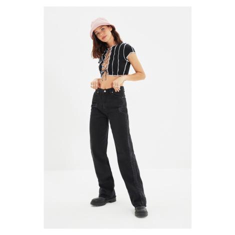 Trendyol Black Wear 90's High Waist Wide Leg Jeans