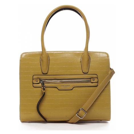 Dámská kabelka žlutá - David Jones Camille