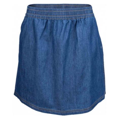 Willard LELA modrá - Dámská plátěná sukně džínového vzhledu
