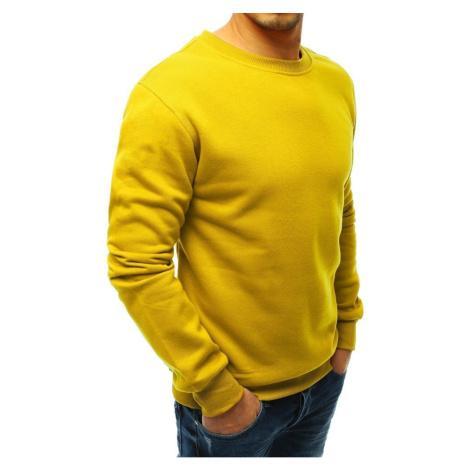 Men's smooth yellow sweatshirt BX4638 DStreet