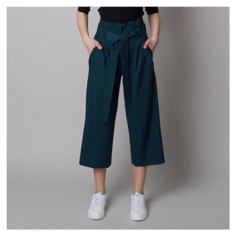 Dámské látkové kalhoty culottes tmavě zelené 12618 Willsoor