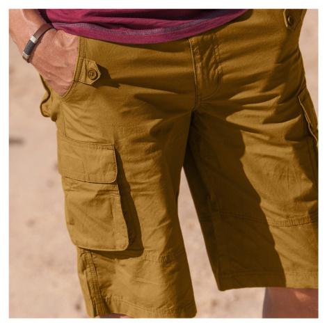 Blancheporte Bermudy s nakládanými kapsami okrová