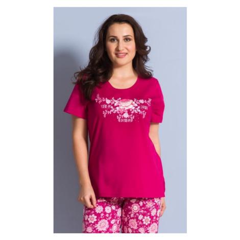 Dámské pyžamo kapri Vienetta Secret Květena | světle zelená