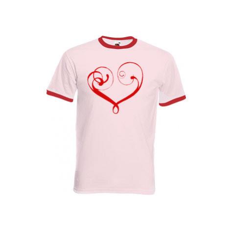 Pánské tričko s kontrastními lemy In love