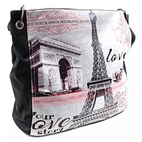Černá moderní dámská kabelka na rameno Parisia Tapple