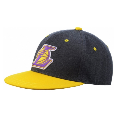 Kšiltovka Adidas Fitted Lakers dark grey heather