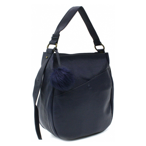 Modrá prostorná dámská kabelka Carressa Mahel