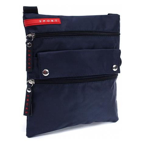 Tmavě modrá menší pánská crossbody taška Reed