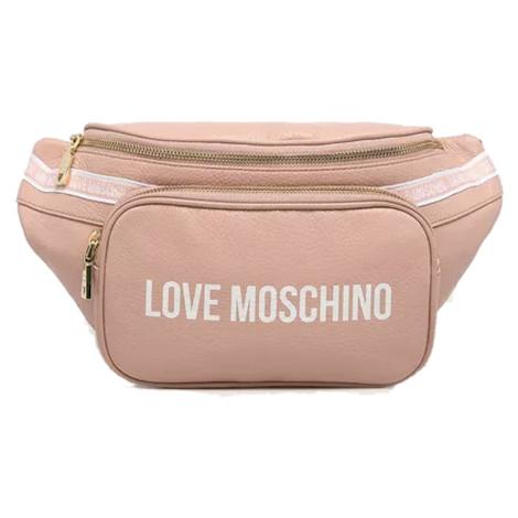 Růžová kožená ledvinka - LOVE MOSCHINO