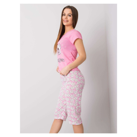 Dámské růžové bavlněné pyžamo FPrice