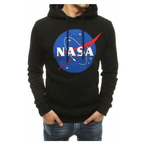 Dstreet Zateplená mikina v černé barvě NASA