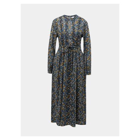 Jacqueline de Yong modré květované maxi šaty