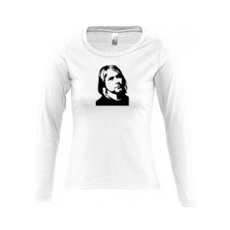Dámské tričko dlouhý rukáv kulatý výstřih Kurt Cobain