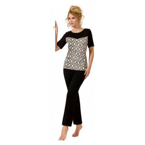 Passion Luxusní černé pyžamo Isabel