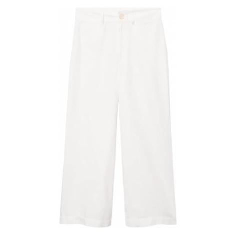MANGO Kalhoty bílá