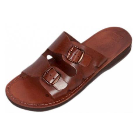 Faraon-Sandals DAREIOS Uni kožené pantofle 108 Dareios