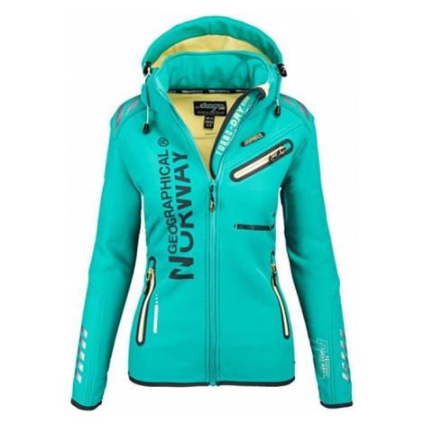 Luxusní značková dámská bunda GEOGRAPHICAL NORWAY s odepínatelnou kapucí Turbo-Dry Barva: Zelená