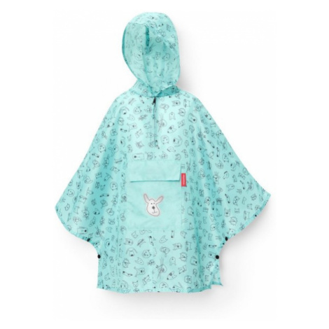 Dětské poncho Reisenthel M kids Cats and dogs mint