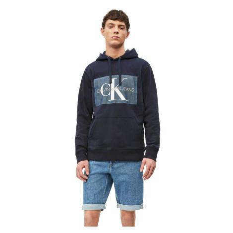 Calvin Klein pánská tmavě modrá mikina Chambray