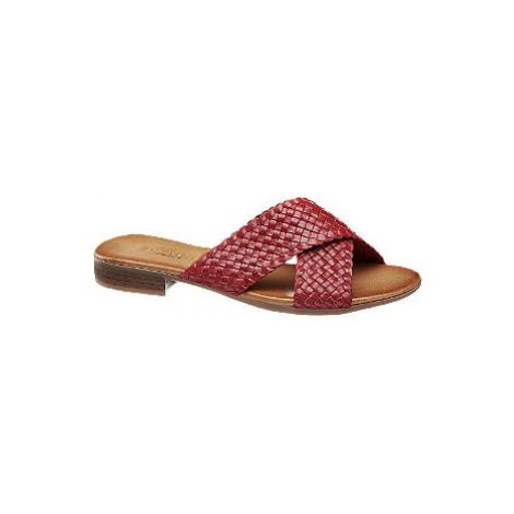 Červené kožené pantofle 5th Avenue