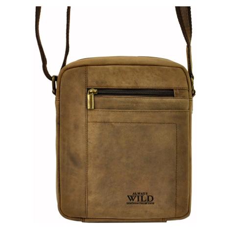 Pánská kožená taška přes rameno Always Wild 8022-TGH hnědá