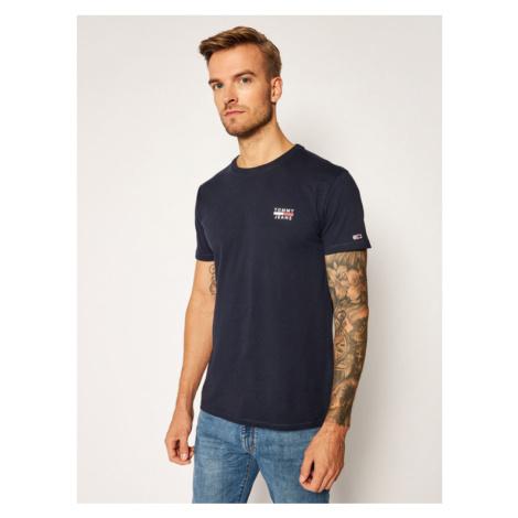 Tommy Hilfiger TOMMY JEANS pánské modré tričko ORGANIC COTTON SLIM FIT T-SHIRT