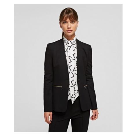 Blejzr Karl Lagerfeld Summer Punto Jacket - Černá