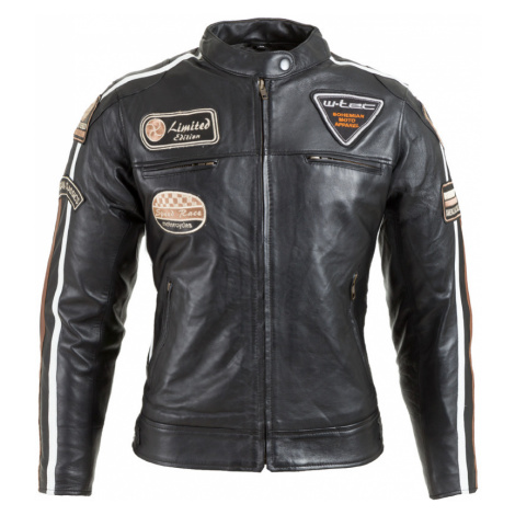 Dámská Kožená Moto Bunda W-Tec Sheawen Lady Black Černá
