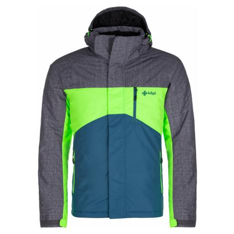 KILPI Pánská zimní bunda - větší velikosti OBER-M LMX044KITRQ Tyrkysová