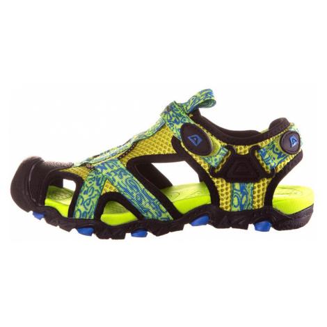 ALPINE PRO BARBIELO Dětská letní obuv KBTN190530 reflexní žlutá