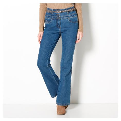 Blancheporte Džíny s vysokým pasem, střih bootcut modrá