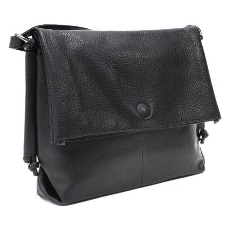 Černá dámská kabelka s dvojitou klopnou Laurette Mahel