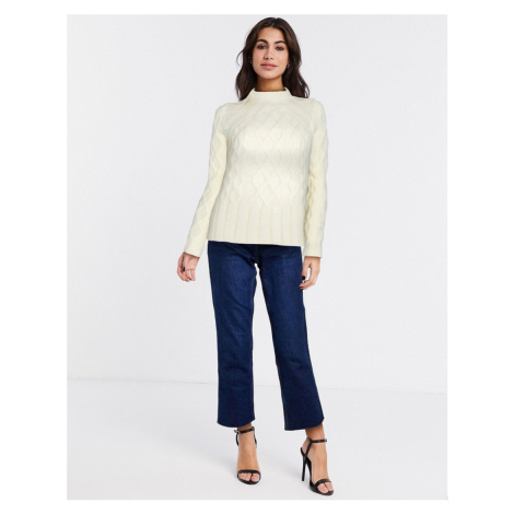 Whistles modern cable knit jumper in yellow