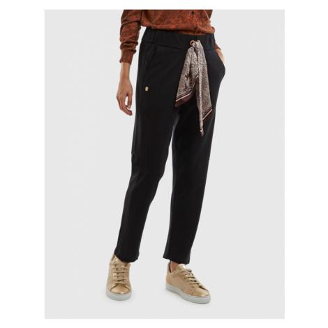 Tepláky La Martina Woman Hvy Jersey Jogging Pants - Černá
